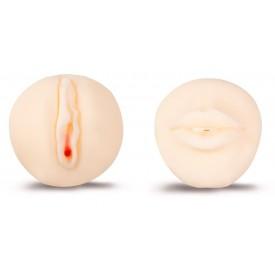 Двусторонний мастурбатор - вагина и ротик